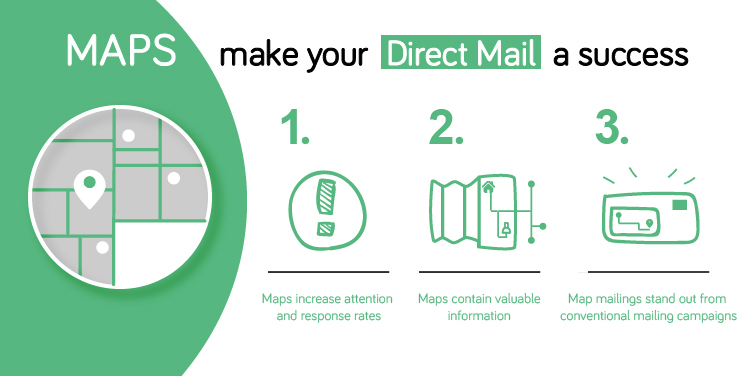 How maps can make your direct mail a success